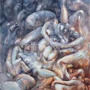 """(CreativeWork) Poliptych 3- from the """"Pandora's Box"""" series  by Tony Belobrajdic. watercolour. Shop online at Bluethumb."""