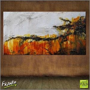 (CreativeWork) She is so Sienna 190cm x 100cm  Huge sienna outback landscape texture acrylic gloss finish by _Franko _. arcylic-painting. Shop online at Bluethumb.