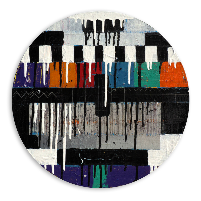 (CreativeWork) B & W Colour Test Pattern by Jan Allsopp. mixed-media. Shop online at Bluethumb.