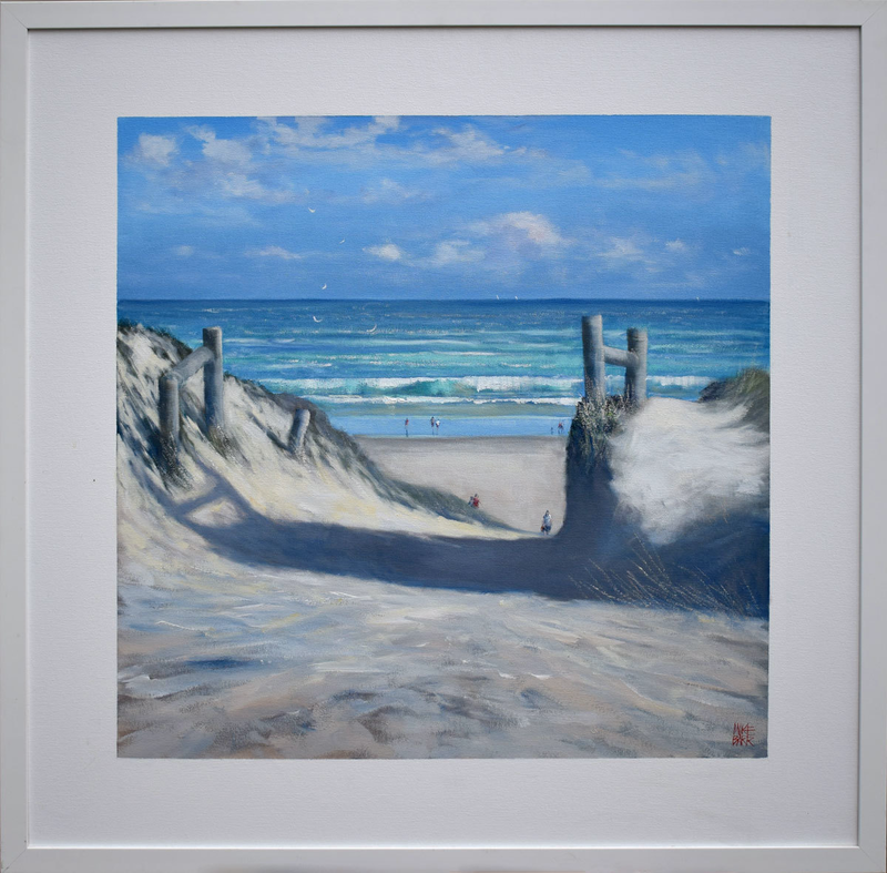 (CreativeWork) Old Path - Goolwa by Mike Barr. arcylic-painting. Shop online at Bluethumb.
