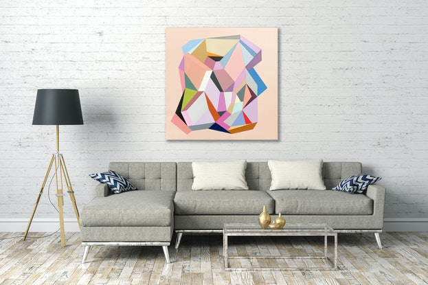 (CreativeWork) Magnolia, abstract painting by Susie Monte by Susie Monte. Acrylic Paint. Shop online at Bluethumb.