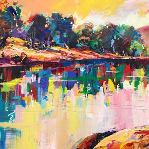 (CreativeWork) Ross Graham Lookout II,  Kalbarri WA by Jos Coufreur. arcylic-painting. Shop online at Bluethumb.