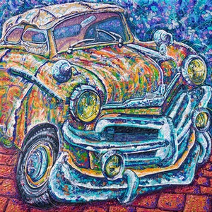 (CreativeWork) Vauxhall Velox by Tina Dinte. arcylic-painting. Shop online at Bluethumb.