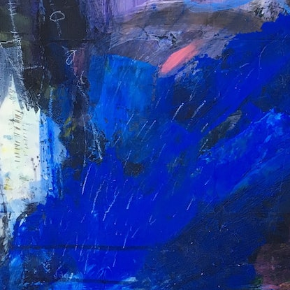 (CreativeWork) Overflow, Overboard by Nicole Fearfield. Mixed Media. Shop online at Bluethumb.