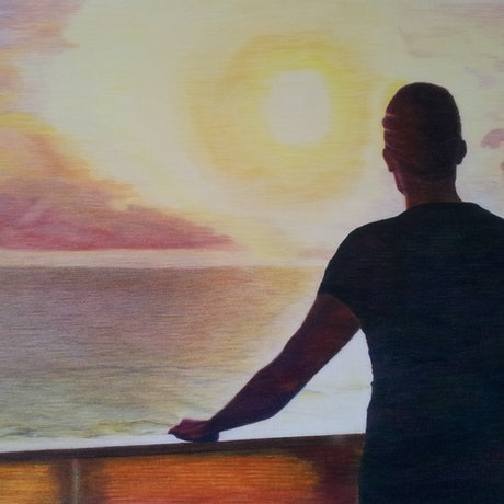 (CreativeWork) SEAFARER by Audrey Attwell. Other Media. Shop online at Bluethumb.