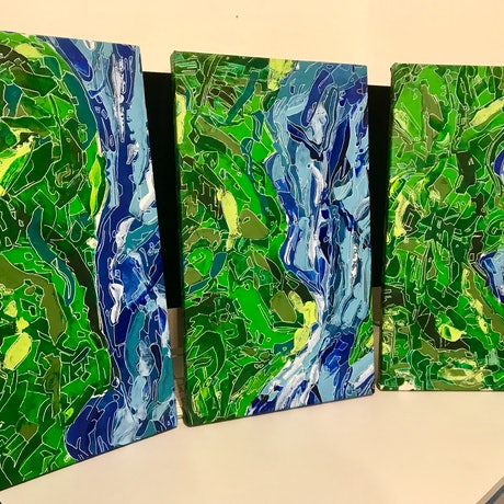 (CreativeWork) NQ landscape series by Nick Hoops. Acrylic Paint. Shop online at Bluethumb.