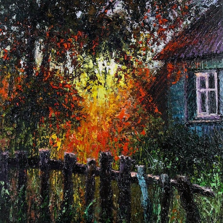 (CreativeWork) Soirée Lumineuse by Deana Evstefeeva. Oil Paint. Shop online at Bluethumb.