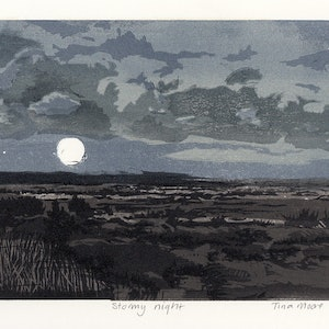 (CreativeWork) Stormy night Ed. 1 of 1 by Tina Moore. print. Shop online at Bluethumb.