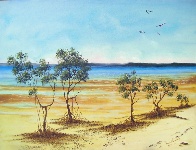 (CreativeWork) Tinninbar by Bob Murray. oil-painting. Shop online at Bluethumb.