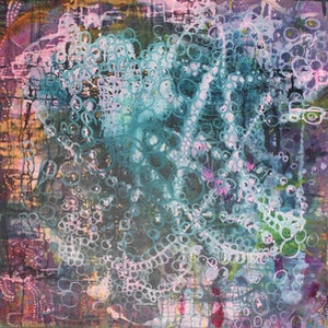 (CreativeWork) We are connected by Nicole Lee. mixed-media. Shop online at Bluethumb.