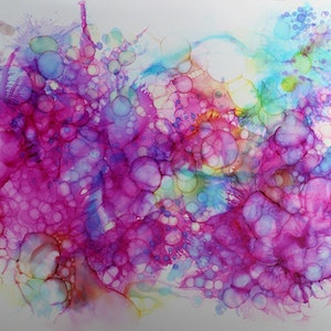 (CreativeWork) Release (series) by Nicole Lee. mixed-media. Shop online at Bluethumb.