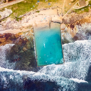 (CreativeWork) Cronulla Rock Pool I Ed. 1 of 50 by Ali Diab. photograph. Shop online at Bluethumb.