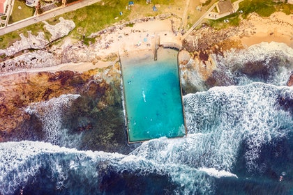 (CreativeWork) Cronulla Rock Pool I by Ali Diab. photograph. Shop online at Bluethumb.