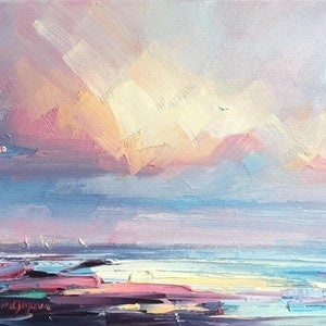 (CreativeWork) Seascape study #4 by Liliana Gigovic. oil-painting. Shop online at Bluethumb.
