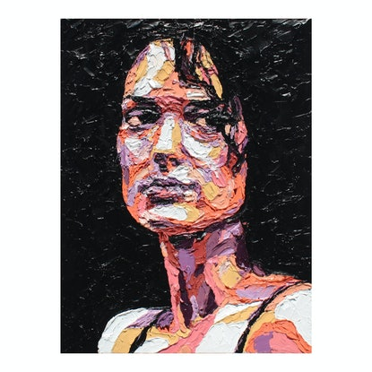 (CreativeWork) I Was a Girl ... Interrupted by @MCRT. Studio. Oil Paint. Shop online at Bluethumb.