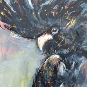 (CreativeWork) Black Betty by Rebecca Hill. arcylic-painting. Shop online at Bluethumb.