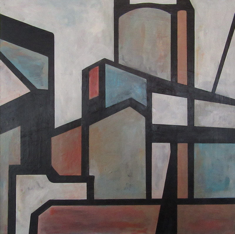 (CreativeWork) Steelworks by Claudia Claveria. Acrylic Paint. Shop online at Bluethumb.
