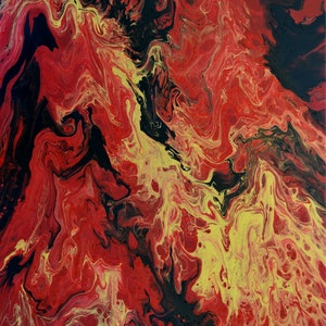 (CreativeWork) Phoenix Rising by Brigitte Ackland. arcylic-painting. Shop online at Bluethumb.