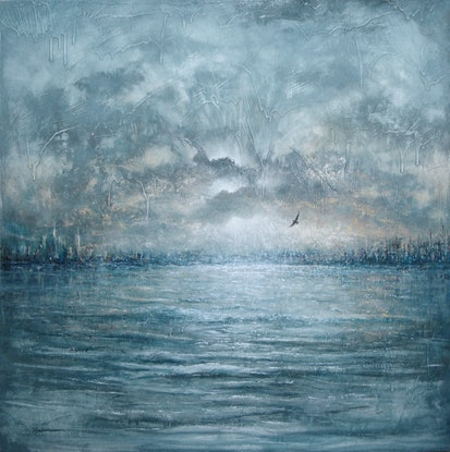 (CreativeWork) The Return by David Kaneen. Oil Paint. Shop online at Bluethumb.