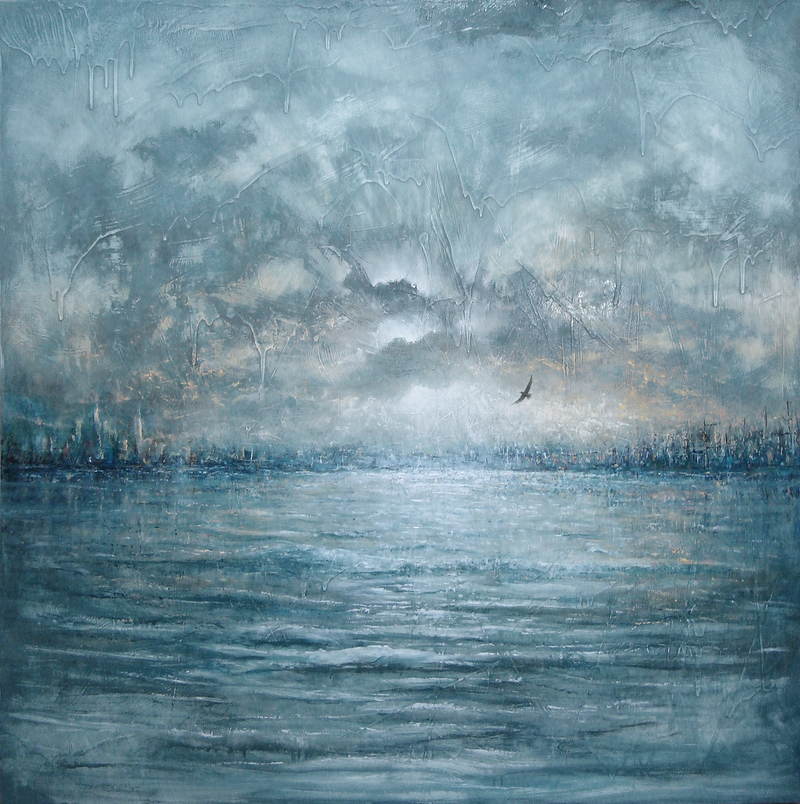 (CreativeWork) The Return by David Kaneen. oil-painting. Shop online at Bluethumb.