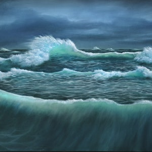 (CreativeWork) Stormy Sea – Limited Print Ed. 1 of 1 by David Kaneen. print. Shop online at Bluethumb.