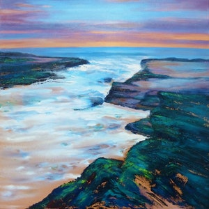 (CreativeWork) TIDAL MOVEMENT by Clare Riddington Jones. arcylic-painting. Shop online at Bluethumb.