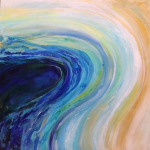 (CreativeWork) Inlet by Kerry Candarakis. arcylic-painting. Shop online at Bluethumb.