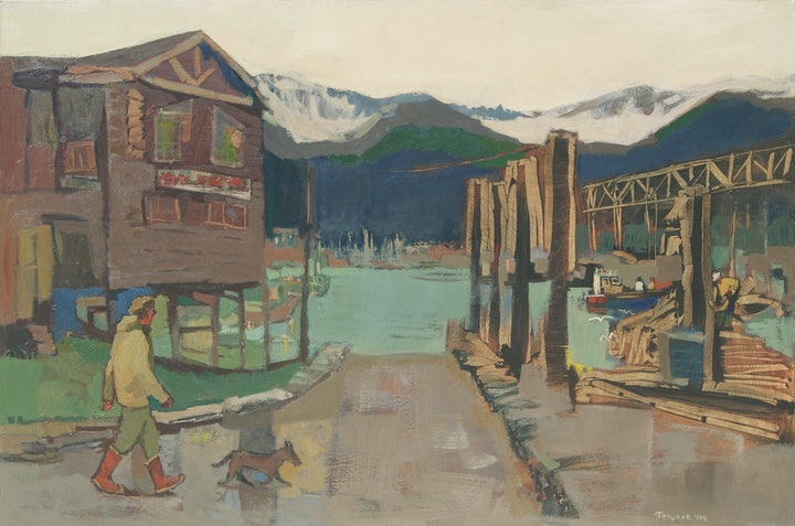 (CreativeWork) Evening in Seward, Alaska by Tetyana Khytko. oil-painting. Shop online at Bluethumb.