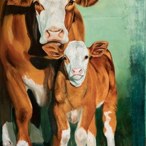 (CreativeWork) Simmental Sentiment by Catherine Clark Dowden. #<Filter:0x00007fcb1adeeaa8>. Shop online at Bluethumb.