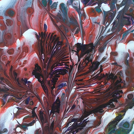 (CreativeWork) Flowers Within Flower by Marty Foster. Acrylic Paint. Shop online at Bluethumb.