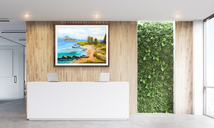 (CreativeWork) Norfolk Island Cemetery Bay by Kit McNeill. Oil Paint. Shop online at Bluethumb.
