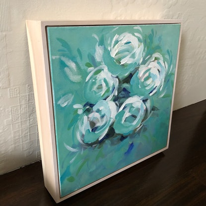 (CreativeWork) Breathe - Flowers Series by Jen Shewring. Acrylic Paint. Shop online at Bluethumb.