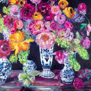 (CreativeWork) 'Life In Full Bloom' Large Limited Edition Giclee Fine Art Print    by Tanya Cole. print. Shop online at Bluethumb.