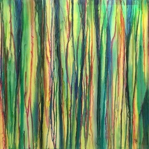 (CreativeWork) Snow Gums by Valerie Maude. mixed-media. Shop online at Bluethumb.
