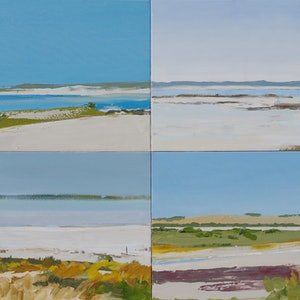 (CreativeWork) Viewing Water, the Coorong by Lise Temple. oil-painting. Shop online at Bluethumb.