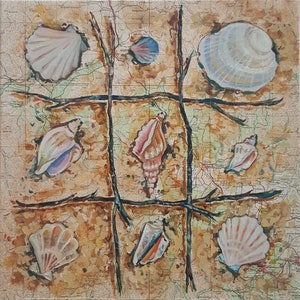 (CreativeWork) Shell Game by Sherry McCourt. oil-painting. Shop online at Bluethumb.