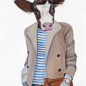 (CreativeWork) Chloe Hopes It's Vegan (Original)  by Mia Laing. oil-painting. Shop online at Bluethumb.