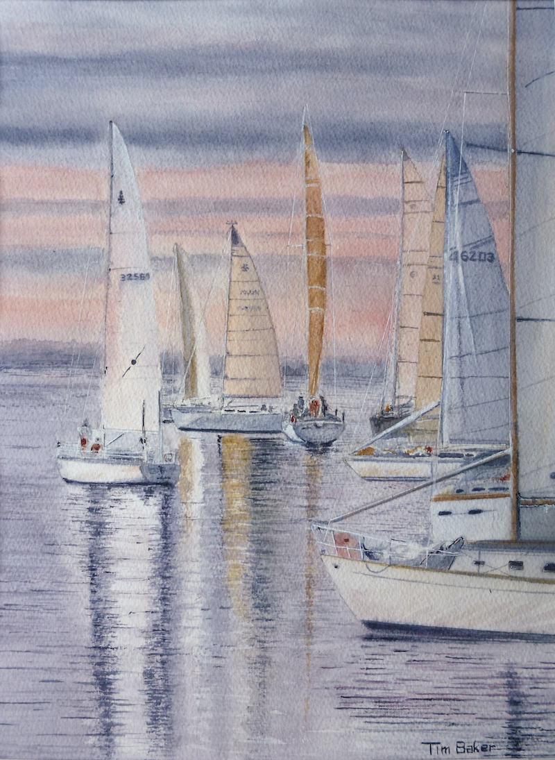 (CreativeWork) Becalmed by Tim Baker. watercolour. Shop online at Bluethumb.