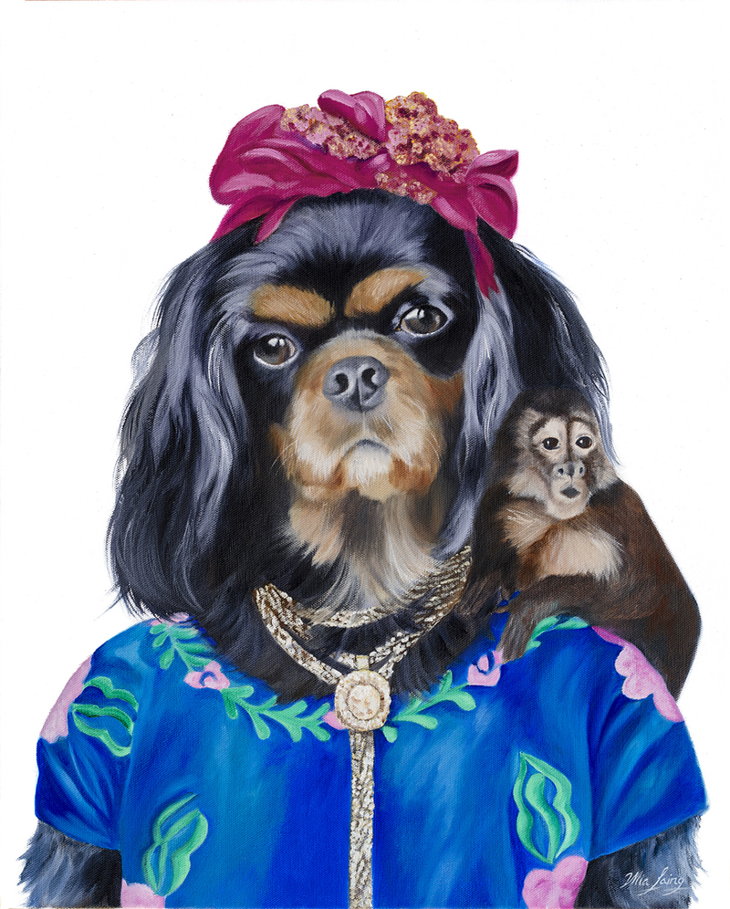 (CreativeWork) Frida Cavalier (Original Oil )  by Mia Laing. oil-painting. Shop online at Bluethumb.