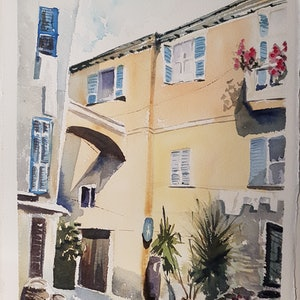 (CreativeWork) Sunny Midday by Irina Kozyrevitch. watercolour. Shop online at Bluethumb.