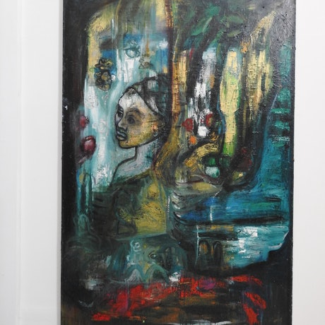 (CreativeWork) Sea Shanty by Allison Orton. Oil Paint. Shop online at Bluethumb.