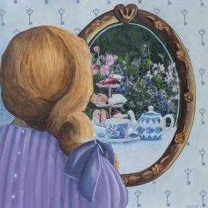 (CreativeWork) Through the Looking Glass by Christine Aspland. mixed-media. Shop online at Bluethumb.