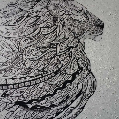 (CreativeWork) **FURTHER REDUCED PRICE** - Zentangled by Anjana Varma. Drawings. Shop online at Bluethumb.