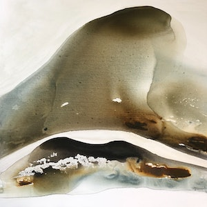 (CreativeWork) Sand Shadows  by Dinah Wakefield. arcylic-painting. Shop online at Bluethumb.