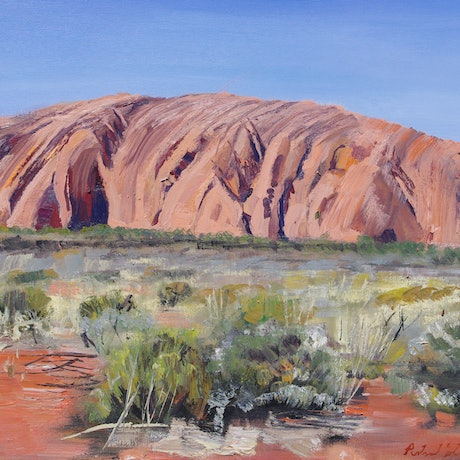 (CreativeWork) Uluru by Roland Weight. Oil Paint. Shop online at Bluethumb.
