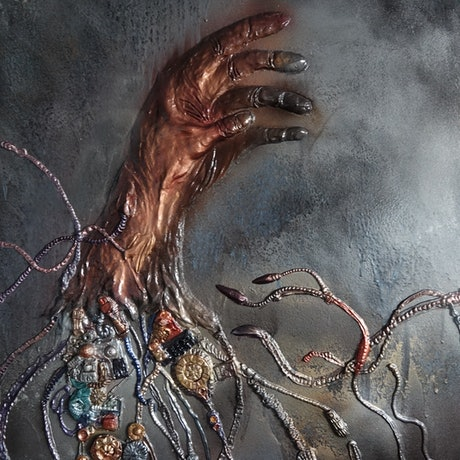 (CreativeWork) < The Lost Hand >  by D B. Mixed Media. Shop online at Bluethumb.