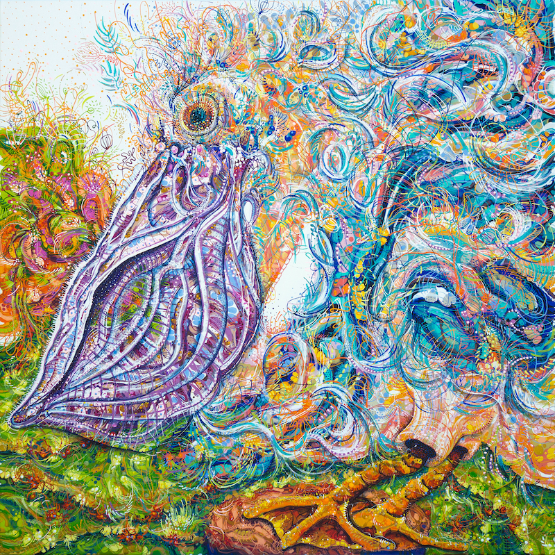 (CreativeWork) Danny the Dancing Pelican by Tina Dinte. Acrylic Paint. Shop online at Bluethumb.