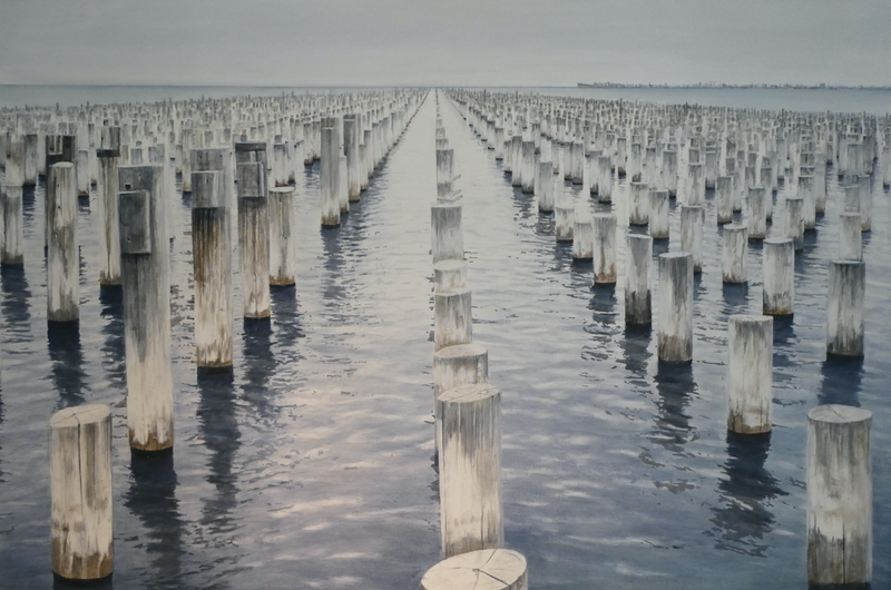 (CreativeWork) Princes Pier by Vanessa Kelly. #<Filter:0x00007f3bf8d58438>. Shop online at Bluethumb.