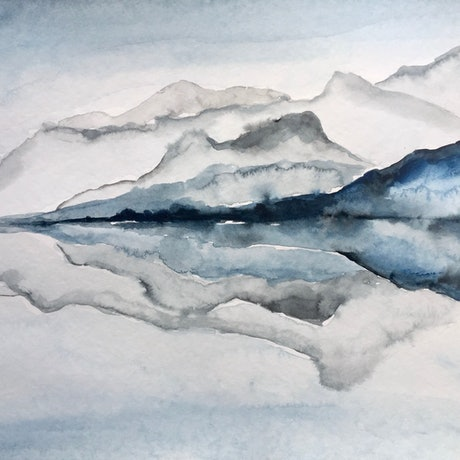 (CreativeWork) Clarity by Tiffany Blaise. Watercolour Paint. Shop online at Bluethumb.