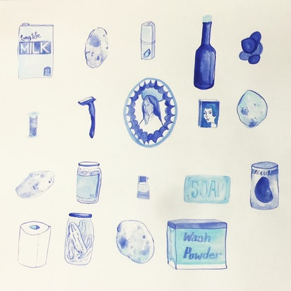 (CreativeWork) In the Store Room by Jacqueline Mcleish. Watercolour Paint. Shop online at Bluethumb.